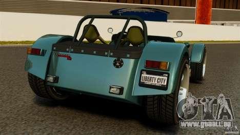 Caterham Superlight R500 pour GTA 4 Vue arrière de la gauche