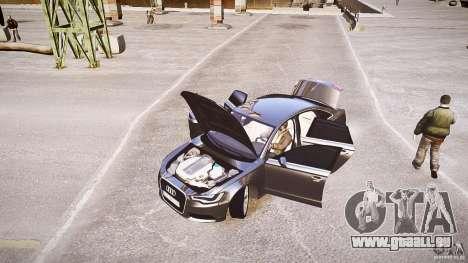 Audi A6 v1.0 pour GTA 4 est une vue de l'intérieur