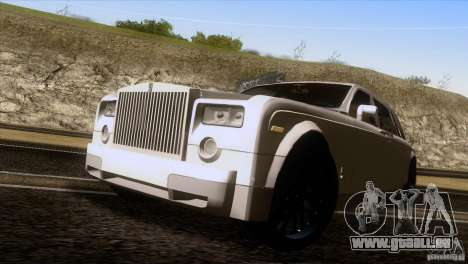 Rolls Royce Phantom Hamann pour GTA San Andreas vue de droite