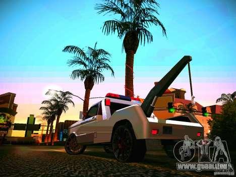 Towtruck tuned pour GTA San Andreas sur la vue arrière gauche