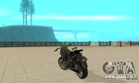 Bike Wolfenstein pour GTA San Andreas sur la vue arrière gauche