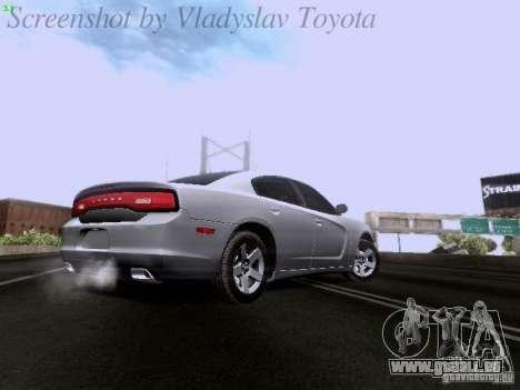 Dodge Charger 2013 pour GTA San Andreas vue intérieure
