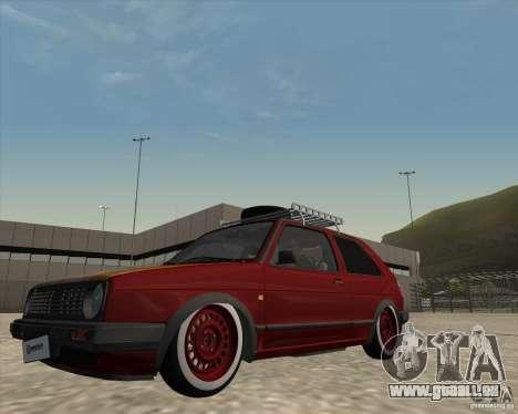 VW Golf II Shadow Crew pour GTA San Andreas vue intérieure