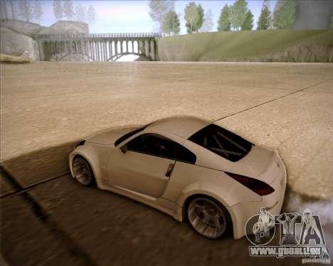 Nissan 350Z AdHoc pour GTA San Andreas sur la vue arrière gauche