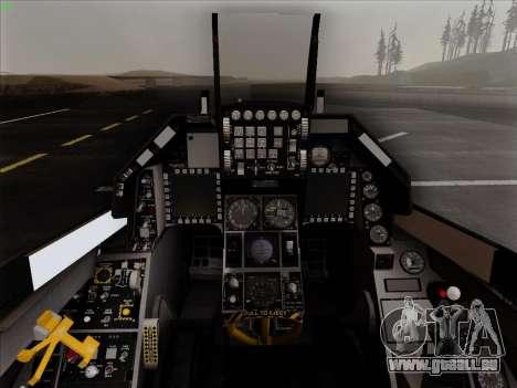 F-16C Warwolf für GTA San Andreas obere Ansicht