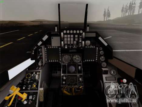 F-16C Warwolf pour GTA San Andreas vue de dessus
