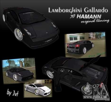 Lamborghini Gallardo Hamann Tuning pour GTA Vice City