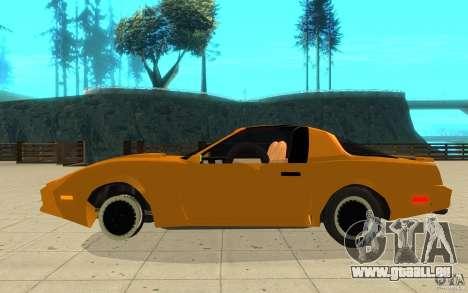 Pontiac Firebird 1989 K.I.T.T. pour GTA San Andreas laissé vue