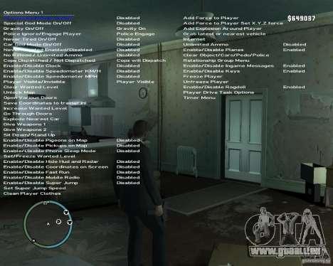Simple Native Trainer v6.4 für GTA 4 Sekunden Bildschirm