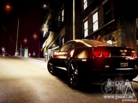 Chevrolet Camaro SS 2010 pour GTA 4 vue de dessus