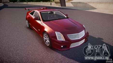 Cadillac CTS-V Coupe pour GTA 4 est une vue de l'intérieur