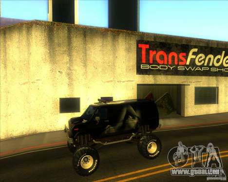 Ford E-250 monster truck 1986 für GTA San Andreas linke Ansicht