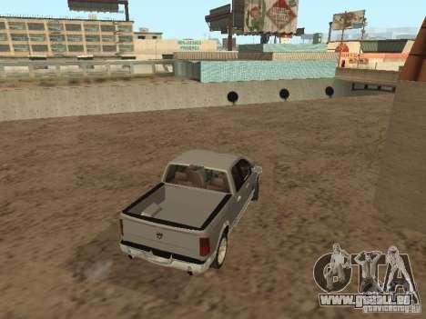 Dodge Ram pour GTA San Andreas sur la vue arrière gauche