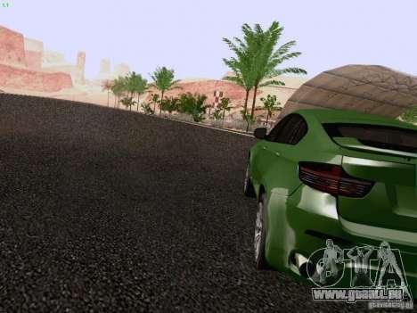 BMW X6 LT pour GTA San Andreas sur la vue arrière gauche