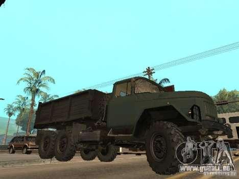 ZIL 131 camion pour GTA San Andreas vue de dessous