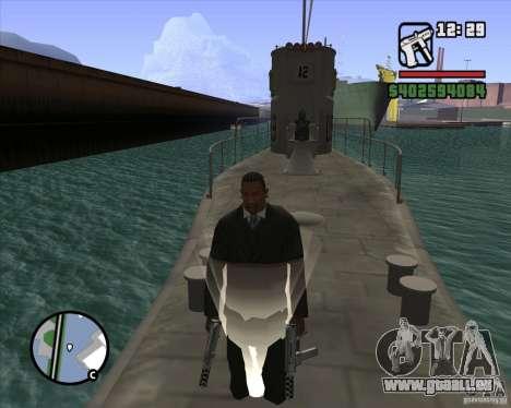 U99 German Submarine für GTA San Andreas neunten Screenshot