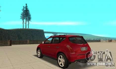 Nissan Murano 2004 pour GTA San Andreas sur la vue arrière gauche