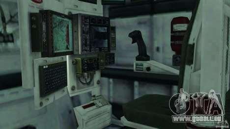 Stryker M1128 Mobile Gun System v1.0 pour GTA 4 est une vue de l'intérieur