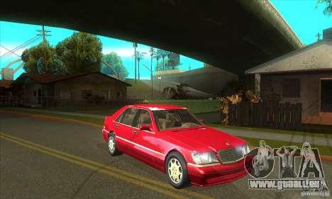 Mercedes-Benz S600 1999 pour GTA San Andreas vue intérieure