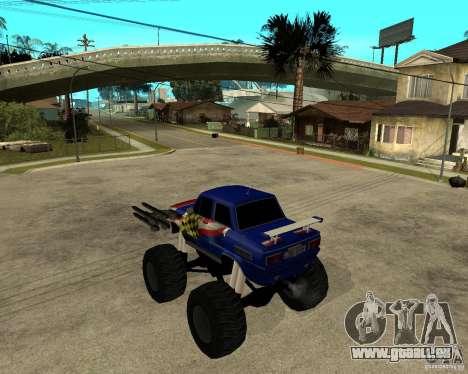 ZAZ-MONSTER für GTA San Andreas linke Ansicht