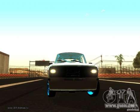 Gaz Volga 2410 Drift Edition pour GTA San Andreas vue intérieure