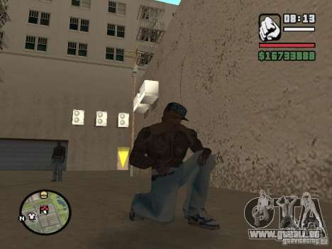 Blue Nike Air Force für GTA San Andreas her Screenshot