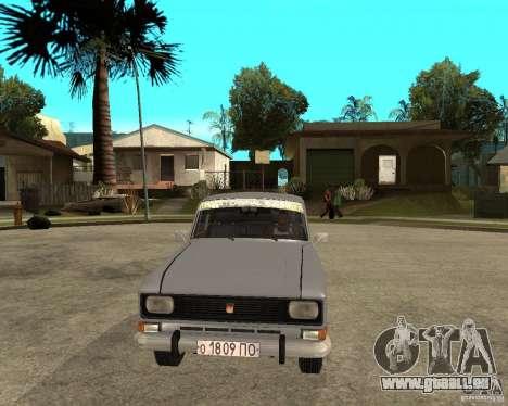 Moskvitch AZLK 2140- pour GTA San Andreas vue arrière