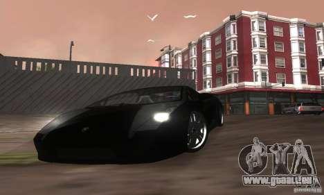 Lamborghini Gallardo pour GTA San Andreas vue de dessous