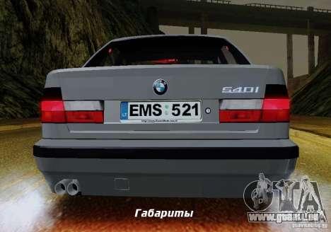 BMW E34 540i Tunable für GTA San Andreas Unteransicht