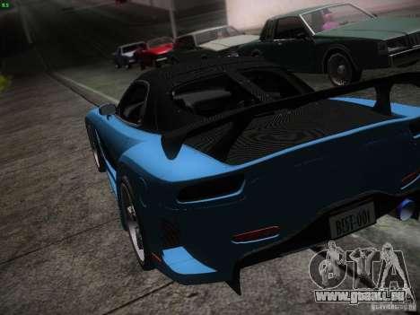 Mazda RX 7 Veil Side pour GTA San Andreas vue de dessous