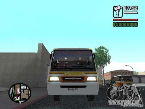 Ciferal Agilis M.Benz LO-814 BY GTABUSCL pour GTA San Andreas vue intérieure