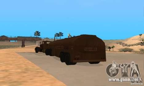 Anhänger Duell Peterbilt für GTA San Andreas rechten Ansicht