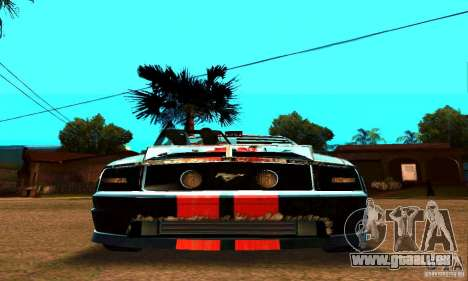 Ford Mustang Shelby GT500 From Death Race Script für GTA San Andreas Seitenansicht
