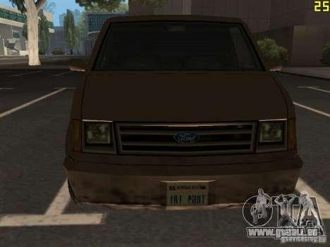 Moonbeam Pickup pour GTA San Andreas vue intérieure