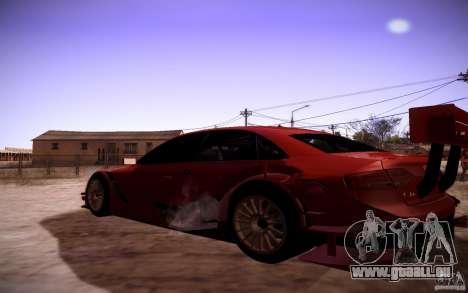 Audi A4 DTM pour GTA San Andreas sur la vue arrière gauche