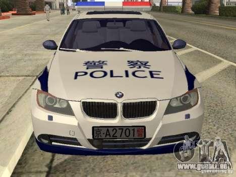 BMW 3 Series China Police für GTA San Andreas rechten Ansicht