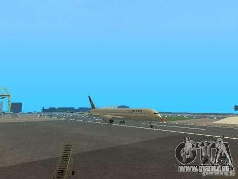 Boeing 787 Dreamliner United Airlines für GTA San Andreas linke Ansicht