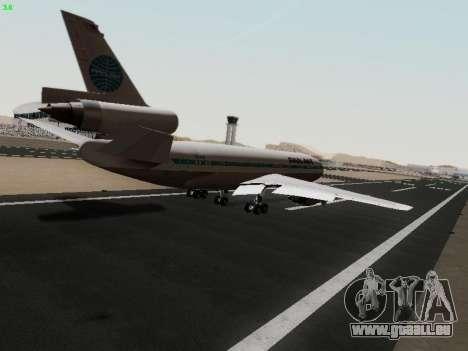 McDonell Douglas DC-10-30 PanAmerican Airways für GTA San Andreas Rückansicht