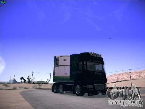 Scania R620 Dubai Trans pour GTA San Andreas vue de droite