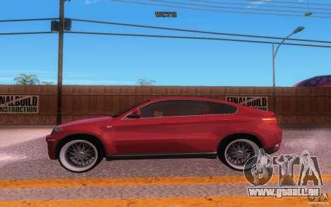 BMW X6 Tuning pour GTA San Andreas vue intérieure