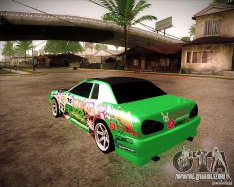 Elegy Toy Sport v2.0 Shikov Version pour GTA San Andreas laissé vue