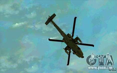 Apache AH64D Longbow pour GTA San Andreas vue de dessous