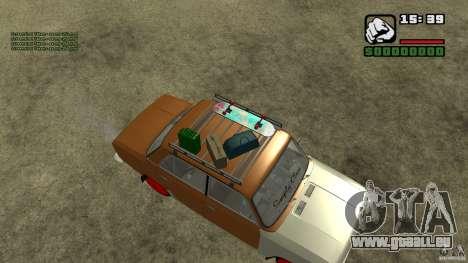 Lada 2101 OnlyDropped pour GTA San Andreas sur la vue arrière gauche