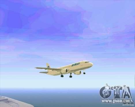 Airbus A-320 compagnie aérienne UTair pour GTA San Andreas moteur