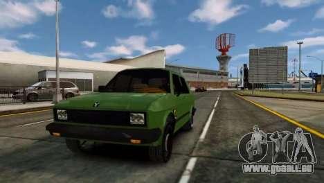 Zastava Yugo Skala pour GTA 4 est une gauche