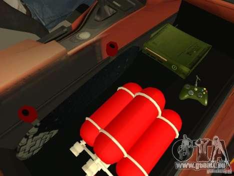 BMW M3 E92 DriftRoots pour GTA San Andreas vue intérieure