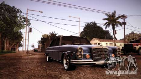 Mercedes Benz 300 SEL - Custom RC3D Edit für GTA San Andreas Innenansicht