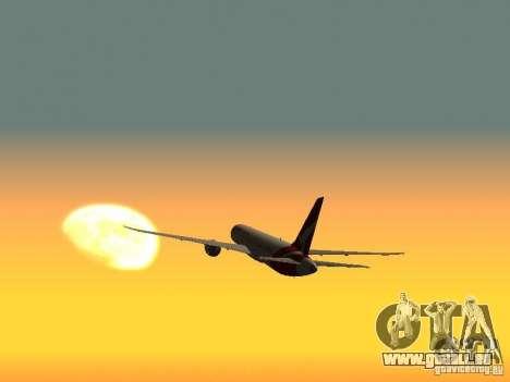 Boeing 787 Dreamliner Qantas pour GTA San Andreas sur la vue arrière gauche