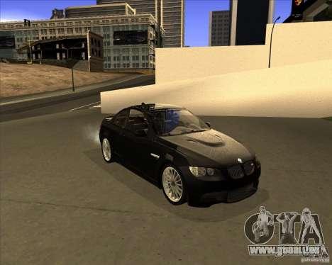 BMW M3 Convertible 2008 pour GTA San Andreas laissé vue