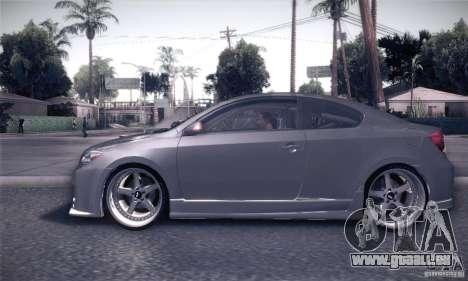 Scion Tc Street Tuning pour GTA San Andreas laissé vue